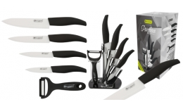 6 ks sada keramických nožov a škrabky so stojanom BIO CERAMIC