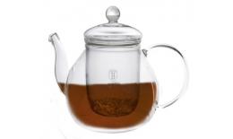 Sklenená kanvica na čaj so sitkom, 1L