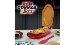 Multifunkčná  obojstanná panvica - 5minute CHEF red COPPER PAN