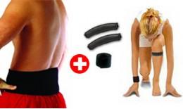 Sada magnetických pásov 3v1 - špeciálny balíček - 1x pás na koleno, 1x na zápästie, 1x na kríže