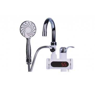 Digitálna vodovodná batéria s elektrickým ohrevom vody a sprchou