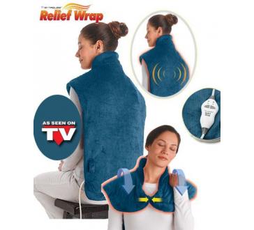 Vyhrievaná elektrická deka na krk, ramená a chrbát Relief Wrap