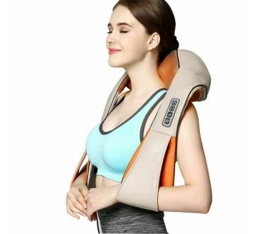 Masážny shiatsu prístroj na telo, krk, ramená s infra vyhrievaním