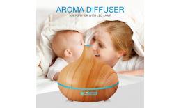 Ultrazvukový AROMA DIFÚZER s diaľkovým ovládaním